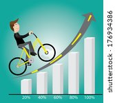 businessman with bicycle...   Shutterstock .eps vector #176934386