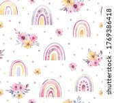 watercolor pattern with multi...   Shutterstock . vector #1769386418