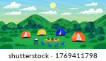 tourism travel to relax camping ... | Shutterstock .eps vector #1769411798
