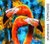Modern Oil Painting Of Lovely...