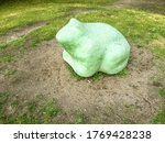 A Big Green Frog. Playground...