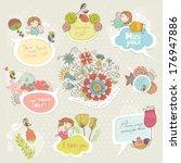 set for congratulations | Shutterstock .eps vector #176947886
