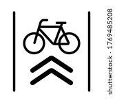 bike lane arrow icon vector | Shutterstock .eps vector #1769485208