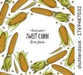 corn  maize illustration. hand... | Shutterstock .eps vector #1769487032