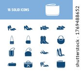bags icon set and cosmetic bag...