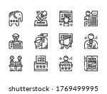 election icons  voting icons.... | Shutterstock .eps vector #1769499995