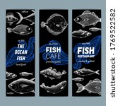 seafood fish banner set. fish... | Shutterstock .eps vector #1769522582