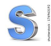blue metal alphabet 3d... | Shutterstock . vector #176963192