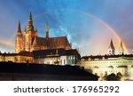 Prague Castle With Rainbow  ...