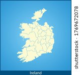 vector map of the ireland | Shutterstock .eps vector #1769672078