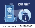 data protection  mobile with... | Shutterstock .eps vector #1769702105
