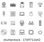 computer and hardware icon set...