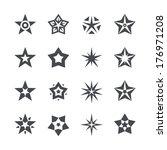 vector stars set on a white... | Shutterstock .eps vector #176971208