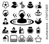 spa icons set .illustration... | Shutterstock .eps vector #176972405