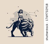 sign of the zodiac leo. a woman ...   Shutterstock .eps vector #1769732918
