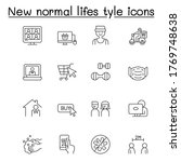 new normal life style icons set ... | Shutterstock .eps vector #1769748638