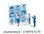 job manager searching for... | Shutterstock .eps vector #1769767175