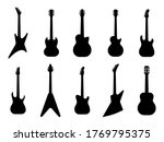 Guitar Silhouettes. Acoustic...