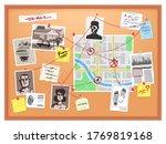 detective board. cops crime... | Shutterstock .eps vector #1769819168