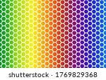 rainbow gradient background ...   Shutterstock .eps vector #1769829368