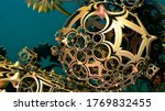abstract background 3d ...   Shutterstock . vector #1769832455