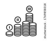 financial plan black line icon. ...