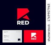 red logo. r monogram. red...