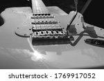 Black   White Electric Guitar...