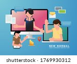 new normal concept  lifestyle... | Shutterstock .eps vector #1769930312