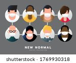 social distancing  after corona ... | Shutterstock .eps vector #1769930318