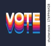 colourful rainbow vote text... | Shutterstock .eps vector #1769946428