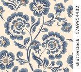 vector flower seamless pattern... | Shutterstock .eps vector #1769954432