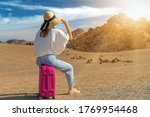 girl in a white shirt and hat... | Shutterstock . vector #1769954468