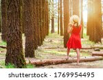 woman in red dress and hat... | Shutterstock . vector #1769954495