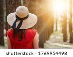 closeup of woman in red dress... | Shutterstock . vector #1769954498