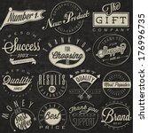 set of symbols for best quality ... | Shutterstock .eps vector #176996735