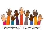 stop racism. black lives matter.... | Shutterstock .eps vector #1769973908