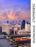 Cityscape Of Bangkok City...