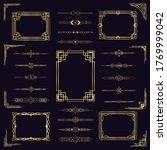 art deco border frames. vintage ... | Shutterstock . vector #1769999042