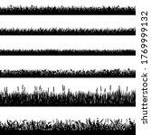 grass border silhouettes. black ... | Shutterstock . vector #1769999132