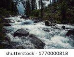 Powerful Mountain River Flow...