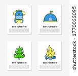 cards with doodle colored eco... | Shutterstock .eps vector #1770033095