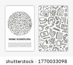 card templates with doodle... | Shutterstock .eps vector #1770033098
