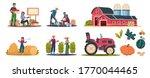 cartoon eco farming.... | Shutterstock .eps vector #1770044465