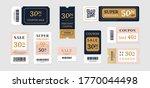 sale vouchers. coupon mockup... | Shutterstock .eps vector #1770044498