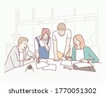 entrepreneurs and business... | Shutterstock .eps vector #1770051302