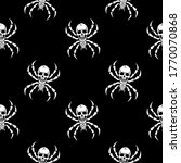 spider skeleton on a black... | Shutterstock .eps vector #1770070868
