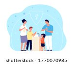 people washing hands. child... | Shutterstock .eps vector #1770070985