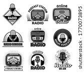 radio badges. music talking... | Shutterstock .eps vector #1770073895