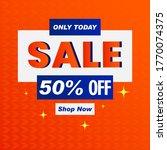 vector illustration of a sale... | Shutterstock .eps vector #1770074375